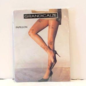 2/$20 Silvia Grandi butterfly pantyhose XL